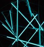 De laser toont, de binnenlandse lichten van de nachtclub, gloeiende lijnen, abstracte fluorescente achtergrond royalty-vrije stock foto's