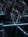 De laser toont, de binnenlandse lichten van de nachtclub, gloeiende lijnen, abstracte fluorescente achtergrond royalty-vrije stock foto