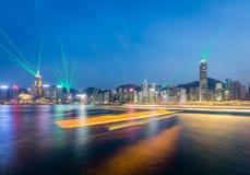 De laser van Hongkong toont royalty-vrije stock afbeeldingen