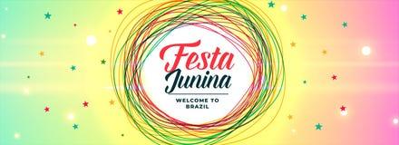 De Latijns-Amerikaanse trillende banner van festajunina vector illustratie