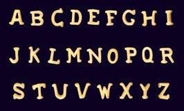 De Latijnse producten van het alfabetgraangewas royalty-vrije illustratie