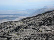De Lava van Hawaï stock foto