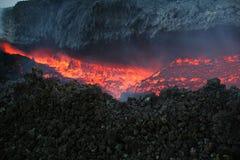 De lava van Vulcan Royalty-vrije Stock Foto's