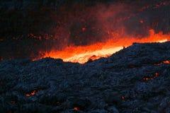 De lava van Vulcan Royalty-vrije Stock Fotografie