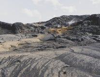 de lava van vulcanoijsland Stock Foto's