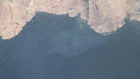 De lavaplons van Etna stock videobeelden