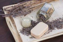 De lavendel bloeit thuis droog Royalty-vrije Stock Afbeeldingen