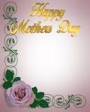 De Lavendel van de Kaart van de Dag van moeders nam toe Royalty-vrije Stock Foto