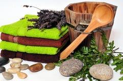 De lavendel van Wellness van de sauna royalty-vrije stock afbeelding