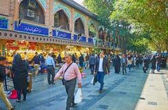 De lawaaierige markt van Teheran royalty-vrije stock foto
