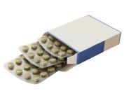 De Laxerende Tabletten van het Pak van de doos stock foto