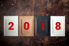 De lay-out van de cijfers voor volgende nieuw jaar 04 Royalty-vrije Stock Fotografie