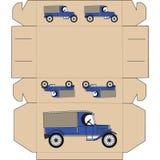 De lay-out van de doos voor gift vector illustratie