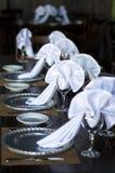 De lay-out van de huwelijkslijst Stock Fotografie