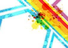 De lay-out van de kunst abstract ontwerp als achtergrond Royalty-vrije Stock Afbeelding