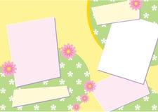 De Lay-out van de Pagina van het plakboek Stock Fotografie