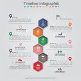 De lay-out van het het Webontwerp van het Infographicselement Vector Stock Foto