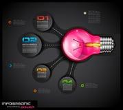 De Lay-out van het ideeconcept voor Brainstorming en Infographic-achtergrond Stock Foto's