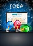 De Lay-out van het ideeconcept voor Brainstorming en Infographic-achtergrond Royalty-vrije Stock Afbeelding