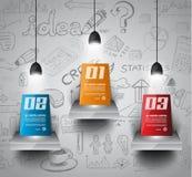 De Lay-out van het Infographicconcept voor Brainstorming en Infographic-achtergrond Stock Fotografie