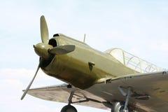 De lay-out van het oude vliegtuig Stock Afbeelding