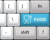 De lay-out van het toetsenbord met voedselknoop vector illustratie