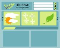 De Lay-out van het Web stock illustratie