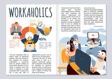 De Lay-out van het Worcaholictijdschrift royalty-vrije illustratie