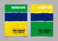 De lay-outontwerp van de boekdekking Abstract Art Cover Layout Design Royalty-vrije Stock Foto's
