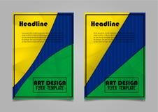De lay-outontwerp van de boekdekking Abstract Art Cover Layout Design Royalty-vrije Stock Afbeeldingen