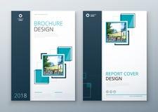 De lay-outontwerp van het brochuremalplaatje Collectief bedrijfs jaarverslag, catalogus, tijdschrift, vliegermodel Creatieve mode vector illustratie