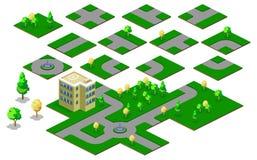 De lay-outs van de kaart met wegen