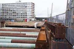 De le Roi Willem-Alexandertunnel est un tunnel à deux étages à Maastricht Images libres de droits