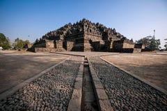 De ledande linjerna av Borobudur arkivfoto