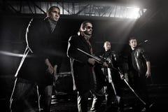 De leden van de gangster Stock Fotografie