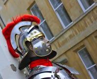 De ledenpop kleedde zich als Roman Militair royalty-vrije stock afbeelding