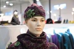 De ledenpop van de vrouw in hoed Royalty-vrije Stock Afbeelding