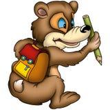 De leerling van de teddybeer stock illustratie