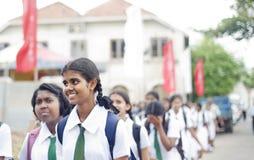 De leerlingen van Lankan van Sri Stock Afbeelding