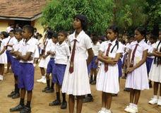 De leerlingen van Lankan van Sri stock fotografie