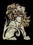 De leeuw architecturaal motief van de steen stock illustratie
