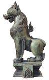 De leeuw in Thaise Literatuur isoleerde wit Stock Afbeelding