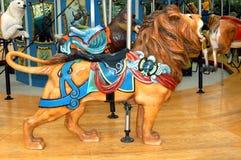 De Leeuw van de carrousel royalty-vrije stock afbeeldingen