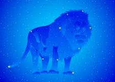 De Leeuw van de constellatie Stock Afbeelding