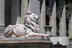 De Leeuw van de Stad van New York Royalty-vrije Stock Foto's