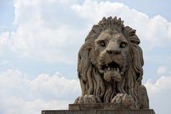 De leeuw van de steen stock foto