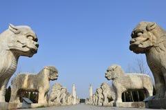 De leeuw van de steen Stock Afbeeldingen