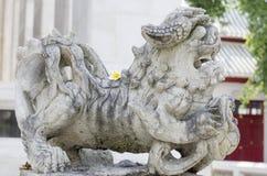 De leeuw van de steen Stock Afbeelding