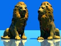 De leeuw van de zitting Stock Afbeelding