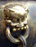 De leeuw van het brons stock foto